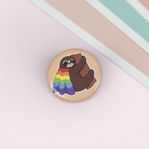 La Donna Cannone Berlin Shop GayPride Button Pin AnsteckerButton Gay Pride, Pin, Anstecker