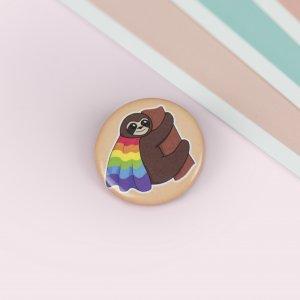 La Donna Cannone Berlin Shop GayPride Button Pin AnsteckerButton Gay Pride, Pin, Anstecker