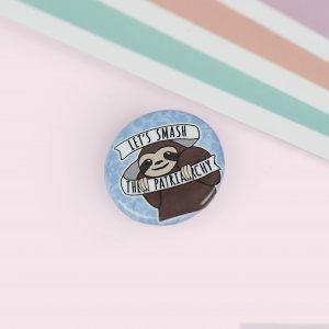 La Donna Cannone Berlin Shop Produktbild 15 Button Lets smash patriarchy